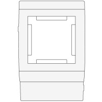Рамка под 2 мод. Mosaic 45 в к-к осн.120 In-Liner