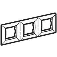 Рамка на 2+2+2 модуля трехместная , слоновая кость