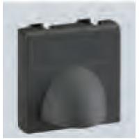 Плата для вывода кабеля торцевая из офиблока, черная