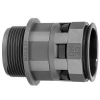 Муфта труба-коробка IP66, DN 17 мм, М20х1,5, полиамид, черный
