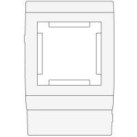 Рамка под 2 мод. Mosaic 45 в к-к осн.100 In-Liner