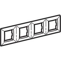 Рамка на 4х2 модуля четырехместная , черная