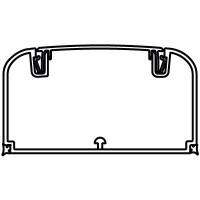 Кабель-канал 90х50 мм, с фронтальной крышкой без перегородки