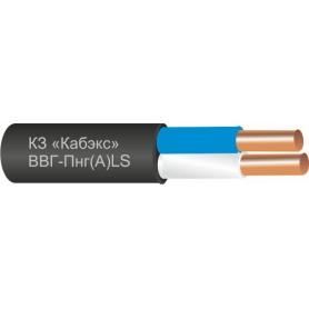 Кабель ВВГнг-LS силовой 2х1.5 кв.мм медный с ПВХ изоляцией негорючий с низким дымо- и газовыделением (Кабэкс)