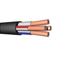 Кабель силовой 4х 6 кв.мм медный 0,66 кВ с ПВХ изоляцией негорючий с низким дымо- и газовыделением (Энергокабель)
