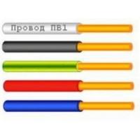 Провод монтажный 1.0 кв.мм медный 0,45 кВ с ПВХ изоляцией