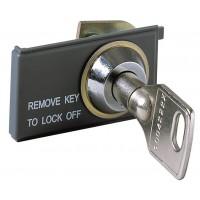 Блокировка выключателя в разомкнутом состоянии KEY LOCK E1/6 new - одинаковые ключи N.20005