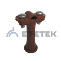 Держатель проводника круглого 6-10 мм коричневый, высота 59 мм, пластик