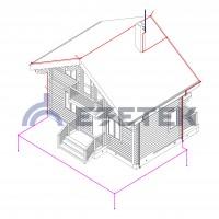 Комплект молниезащиты частного дома MZ – 8 Б для бетонного фасада, оцинк.