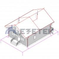 Комплект молниезащиты частного дома MZ – 15 Д для деревянного фасада, медь