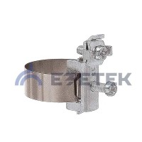 Хомут заземления ленточный 20-165 мм, медь никелированная